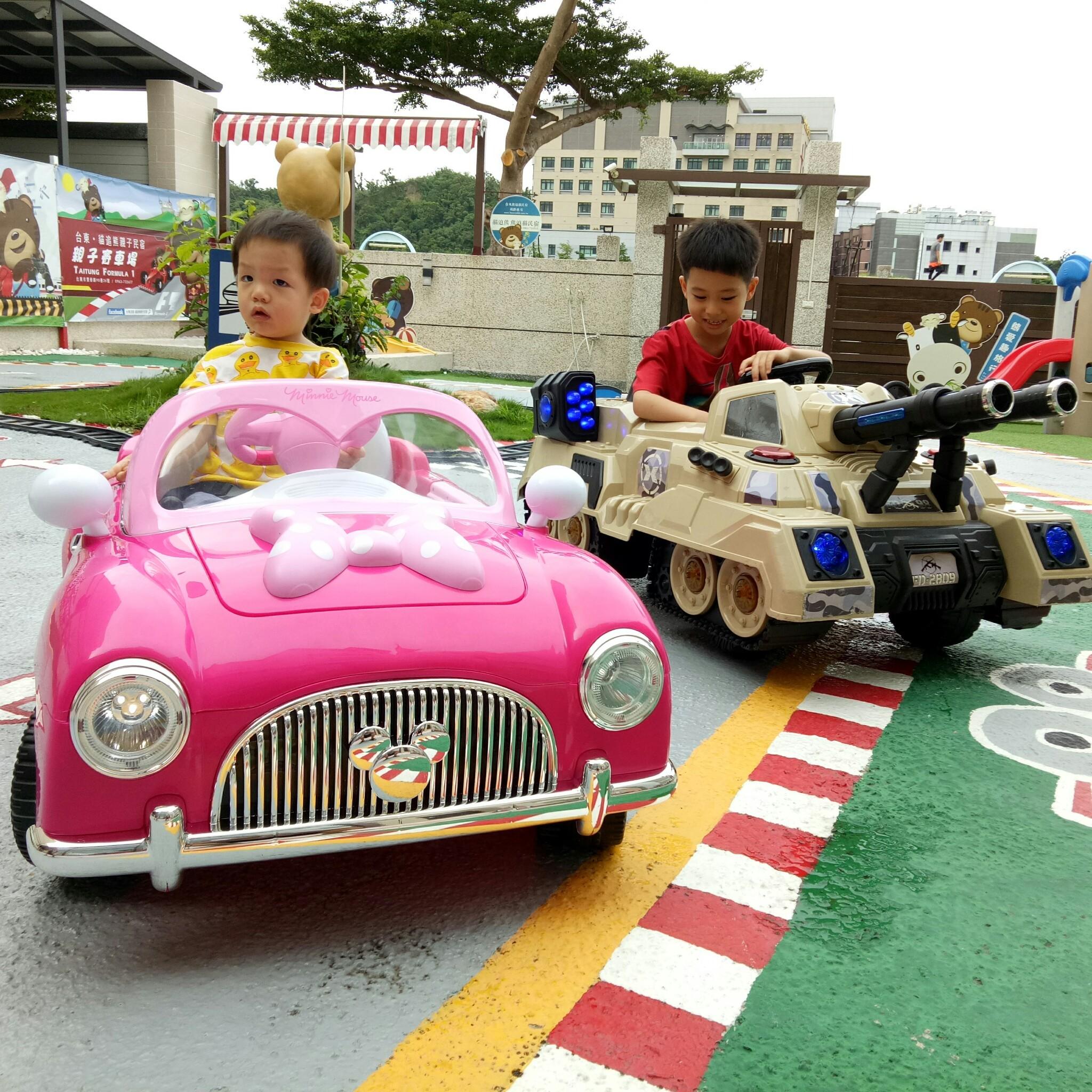兒童電動車造型電動車歡迎蒞臨台東民宿貓追熊親子民宿試開